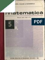 Cls 5 Manual Matematica 1989