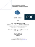 CIUTI FORUM Draft Programme