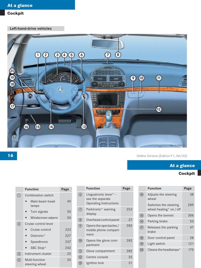 mercedes e class w211 user manual airbag seat belt rh es scribd com