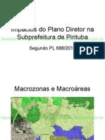 Impactos Do Plano Diretor Na Subprefeitura de Pirituba