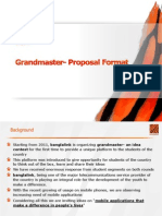 Grandmaster Sample Proposal Format