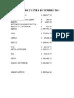 Estado de Cuenta Diciembre 2011