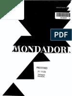 Arnoldo Mondadori Editore SpA 2001