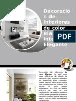 Decoración de Interiores de color blanco elegante