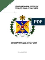 Constitucion Del Estado Lara