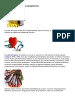 El aceite de hígado de bacalao y sus beneficios.