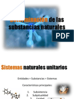 6. Determinación de las substancias naturales