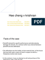 Hee Cheng v Krishnan