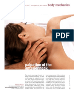 Palpation of the anterior neck