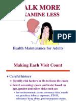 Adult Health Maintenance