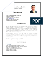 Jose Fernando Arevalo CV Medellin
