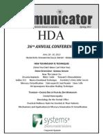 HDA Newsletter - Spring 2013