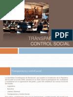 Transparencia y Control Social