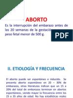 Aborto y Enf. Trofoblasto