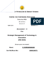 Assignment 2-Strategic Management of Technology & Innovation MB 403 D