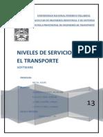 Niveles de Servicio en El Transportes