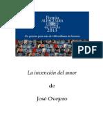 Descargas La Invencion Del Amor de Jose Ovejero Xvi Premio Alfaguara de Novela Es