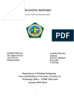 Training Report of Nutech Photolithographers