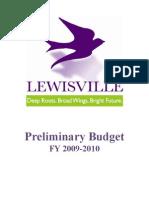 Preliminary Budget 0910