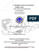 """Perangkat Pembelajaran Lengkap FISIKA SMA """"Analisis Vektor Untuk Gerak Parabola Dan  Gerak Melingkar""""."""