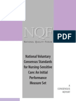 NQF Nursing-Sensitive QI