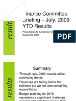Dayton Finance Committee Briefing 8-26-09