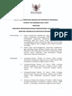 KMK No. 039 Ttg Pedoman Penyelenggaraan Kedokteran Gigi Keluarga (1)