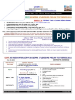 CSAT - M6- All India General Studies Pre. Test Series 2011- 20 Mock Tests + Current Affairs Notes