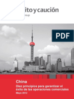 China 10 Principios Comerciar Credito Caucion