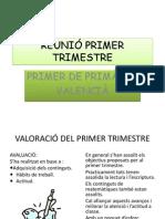 REUNIÓ PRIMER TRIMESTRE