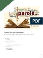 Il Lessico - Dalla Rete Materiali Per Un Approfondimento - A Cura Di Raffaella Guarino