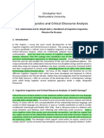 Cognitive Linguistics and Critical Discourse Analysis