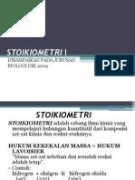 STOIKIOMETRI I