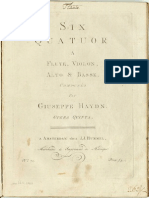 Haydn 6 Flute Quartets Op5