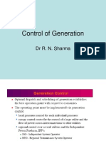 Control of Generation