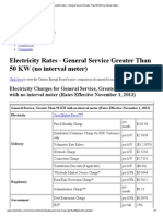 London Hydro - General Service Greater Than 50 KW (No Interval Meter)