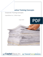 7 Innovative Training Concepts White Paper August 2010