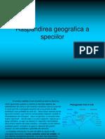 Raspandirea Geografica a Speciilor
