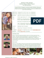 Play Garden Flyer and Form