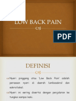 Low Back Pain Persentation