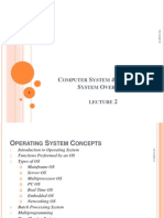 Lecture 2 Overview of Operating System
