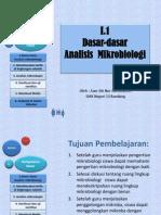 I.1. Dasar2 Analisis Mikrobiologi