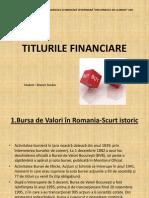 Titlurile financiare