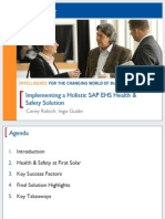 2701 Implementing a Holistic SAP EHSM Health Safety Solution at First Solar
