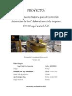 Implementacion de Un Sistema de Control de Asistencias en La Empresa HTH