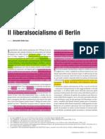 Alessandro Della Casa Il Liberalsocialismo Di Berlin