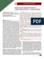 TRANSFORMATIVE MEDIATION IN HEALTHCARE ORGANIZATIONS
