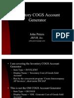 56539710 INV COGS Account Generator