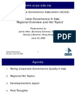 Corporate Governance in Asia - Regional Overview and Hot Topics 24-June-2009 - Asian Corporate Governance Association