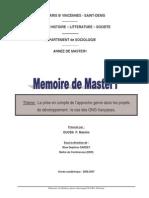 Mémoire ONG